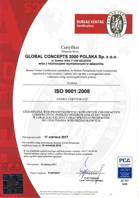 1 1 Certyfikaty jakości