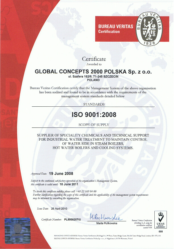 1en Certyfikaty jakości