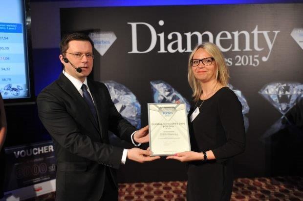 for2015 Wyróżnienie dla Global Concepts 2000   Diamenty Forbesa 2015