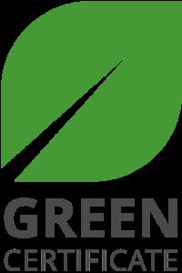 Logo GREEN CERTIFICATE PNG 200x300 ODPOWIEDZIALNI ZA PRZYSZŁE POKOLENIA