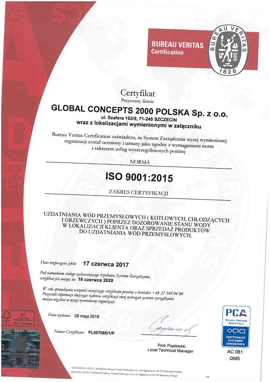 iso17 18 Certyfikaty jakości