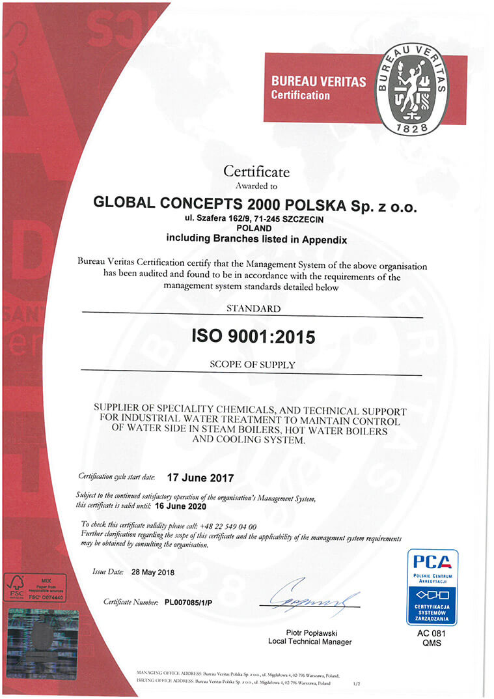 iso17 18en Certyfikaty jakości